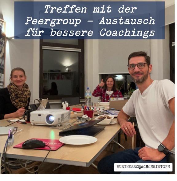 Business Coach Christoph mit Peergroup